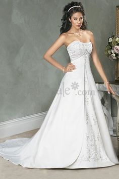 $141.99 Princess Wedding Gown with Court Train Details