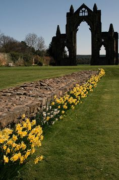 The remains of Guisborough Priory, an English Heritage site in Guisborough, England