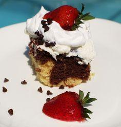 Italian Cannoli Birthday Cake with Strawberries Recipe