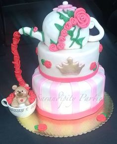 "Girl BabyShower cake! ""Tea time"""