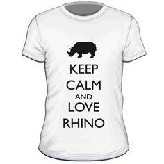 Maglietta personalizzata Keep Calm and Love Rhino