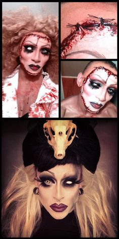 """Petrilude used Sugarpill Love+ and Bulletproof to transform himself into Porcelain (below). He says, """"I wanted to be Porcelain for Halloween, so I just ripped off her face."""""""