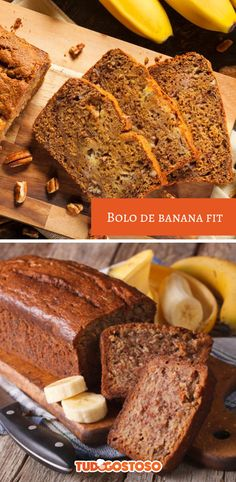 Bolo de banana fit – Pin to pin Health And Nutrition, Nutrition Guide, Health Diet, Cooking Light, Perfect Food, Food Inspiration, Food Porn, Good Food, Food And Drink