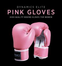 Dynamics Elite Pink Boxing Gloves!! Perfect for fitness training, martial arts practice, kickboxing and boxing sessions.  http://www.dynamicsworld.com/dynamics-elite-pink-boxing-gloves.html