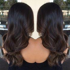 Image result for balayage black hair subtle