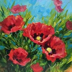 """A Free Workshop Giveaway - Painting France in December - Flower Paintings by Nancy Medina"" - Original Fine Art for Sale - ©Nancy Medina"