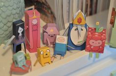 Adventure Time cut outs used for Stella's 6th Birthday Adventure Time party!