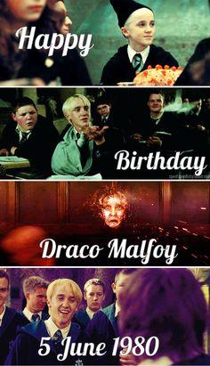 Happy 37th birthday Draco Malfoy! June 5th