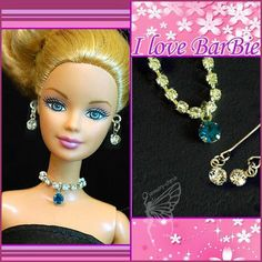 barbie doll jewelry set barbie red Rhinestone necklace and earring Barbie Hair, Barbie And Ken, Barbie Dolls, Barbie Stuff, Sewing Barbie Clothes, Doll Clothes, Red Rhinestone, Rhinestone Necklace, Barbie Princess