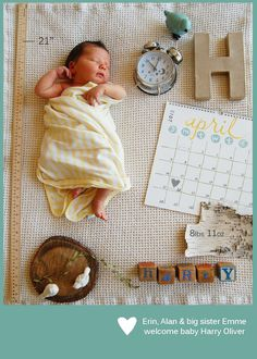Harry's Birth Announcement #baby #boy #newborn #infant #photography #birth #announcement   Inspired by #Pinterest