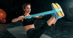 The brunette athletic woman exercising with rubber tape photo by on Envato Elements Resistance Workout, Resistance Band Exercises, The Brunette, Benefits Of Exercise, Senior Fitness, Flexibility Workout, Leg Lifts, Muscle Groups, Athletic Women