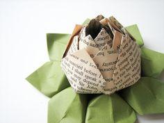 Jane Austen Origami Lotus Flower Decoration or by fishandlotus