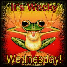 A frog thinks it's Wacky Wednesday, not Hump Day!