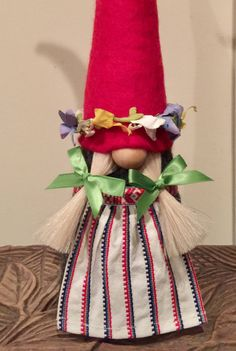 Midsummer Gnome in traditional summer outfit by NordicGnomes on Etsy