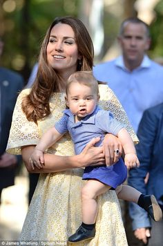 Prince George arrived for his first and only official appearance in Australia - visiting his namesake bilby at Sydney's Taronga Zoo #katemiddleton #princegeorge