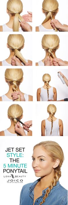 Chic + easy ponytail idea