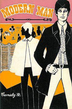 Modern Man, Carnaby St, Menswear Mail Order Catalogue, 1967 (from Retronaut, via Illustrated Gents) 60s And 70s Fashion, Mod Fashion, Vintage Fashion, British Fashion, Gothic Fashion, Street Fashion, Fashion Ideas, Fashion Design, Harley Davidson