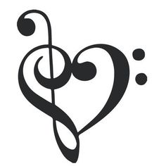 """The Decal Guru Music Heart Wall Decal Color: Black, Size: 24"""" H x 20"""" W x 0.01"""" D"""