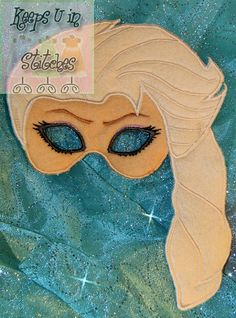 QUEEN ELSA Inspired MASK for Kids Girls by KeepsUInStitches, $15.00