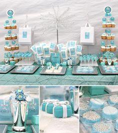 Beautiful bridal shower in Tiffany blue!  LINDOR Stracciatella truffles match perfectly.