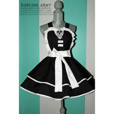 Death the Kid -Soul Eater- Cosplay Pinafore by DarlingArmy ❤ liked on Polyvore featuring dresses