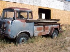 1962 willys JEEP FC170 Pickup 226 L-Head, 6 cyl motor, 3 speed manual Transmission, 2 speed 2/4 wheel drive 9 ft long bed.  This vehicle could be restored but would require parts, therefor I would sell it as a parts vehicle.  The fan came loose from the crankshaft and severely damaged the radiator, needs distributer rebuilt, seats would need reupholstered.  The tires are dry rotted needs brake work. Trans/ transfer case/ front and rear differentials all in good shape.  Great restoration…
