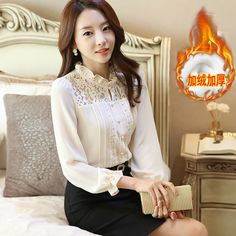 Find More Information about Autumn long sleeve plus size chiffon plus velvet basic shirt turtleneck ruffle lace slim shirt upperwear female,High Quality shirt different color collar,China lace shirt Suppliers, Cheap shirt cutout from E-Best Fashion Mall on Aliexpress.com