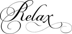 Relax Simply Words Wall Decals