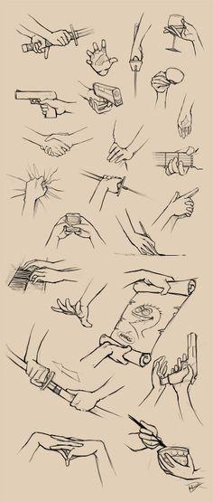 Tutorial básico de mãos segurando algo
