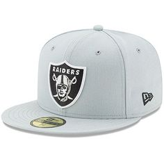 cbb943ecd0c Oakland Raiders New Era Omaha 59FIFTY Fitted Hat - Gray