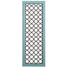 Lattice Wall Panel - Aqua
