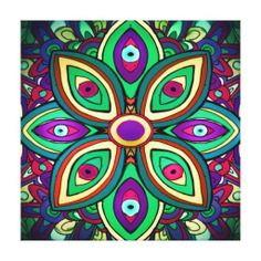 Eye Lotus (Wrapped Canvas Art Print)