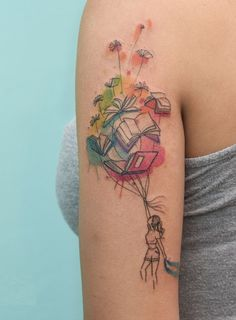 watercolor book tattoo © Iris Tattoo Studio Miami