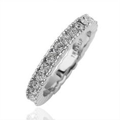 White Gold Plated Ring Simple Style Swarovski Elements Ring