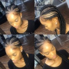 Natural hair || protective styles || ghanabraids || knotless braids || feed in braids || braids || cornrows