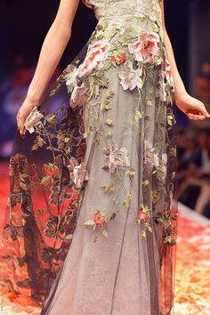 Raven - Wedding Dress by Claire Pettibone runway