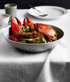 Sautéed mud crab with ginger and spring onion (keong chung hai) recipe | Flower Drum, Melbourne :: Gourmet Traveller