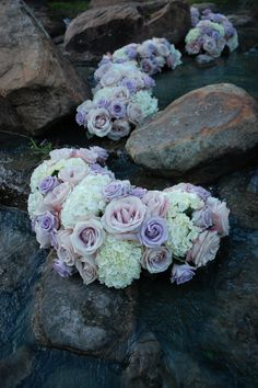 bubbles....flowers in the stream #centerpiece transformed