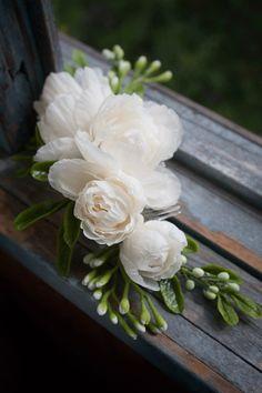 Bridal Hair Comb Wedding Hair Accessory Ivory by MetamorphoseShop
