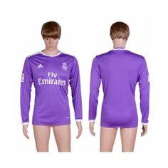 Real Madrid 16-17 Udebane Trøje Langærmet.  http://www.fodboldsports.com/real-madrid-16-17-udebane-troje-langermet.  #fodboldtrøjer