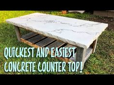 How to make a concrete counter top using Rapid Set Mortar Mix. In this video I will show you the quickest and easiest way to make a concrete counter top usin. Diy Concrete Patio, Concrete Table Top, Diy Concrete Countertops, Cement Counter, Concrete Projects, Countertop Materials, Diy Patio, Kitchen Countertops, Patio Ideas