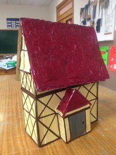 SECUNDARIA. Análisis de la arquitectura medieval e imitación de las viviendas de la Edad Media.