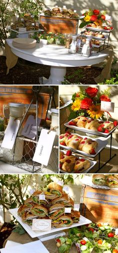 baby shower brunch | Vintage Fall Birdcage Baby Shower Brunch | Party ideas