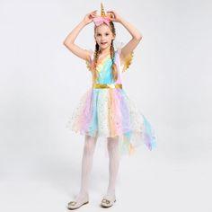Robe princesse + corne a fleur (4 modèles)   Boutique LICORNE Unicorn Fancy Dress, Girl Unicorn Costume, Unicorn Halloween, Fancy Dress Up, Fancy Dress Outfits, Halloween Kids, Trendy Outfits, Fashion Outfits, Princess Aurora Dress