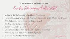 Schwangerschaft Checkliste 2. Trimester. Das sind die wichtigsten To-Dos für werdende Mamas aus Österreich.