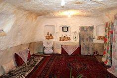 Afghan village living room