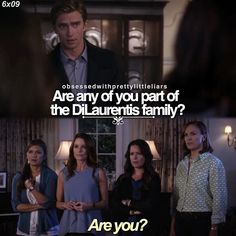 "Rhys Matthews and Ella Montegomery quote ""Are you?"" PLL Lol, straight to the point there Ella."