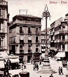 Málaga 1910. Plaza de la Constitución. Andalucía, Spain.