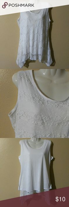 SHANNON FORD NEW YORK LACE LINED TOP LACE LINED TOP  SIZE MEDIUM SHELL 92% NYLON 8% SPANDEX LINING 100% POLYESTER SHANNON FORD NEW YORK Tops Tank Tops