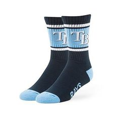 MLB Tampa Bay Rays 47 Brand Duster Performance Sport Socks